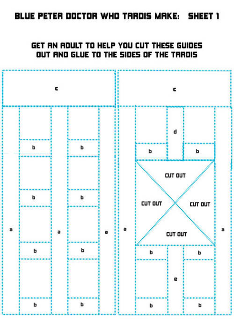 Tardis Bird Feeder Templates